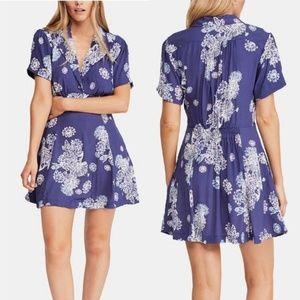 NWT Free People Blue Hawaii Mini Dress XS